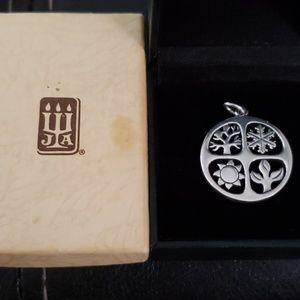James Avery 4 seasons sterling pendant